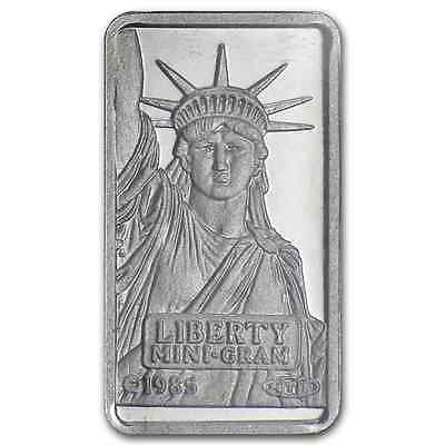 PLATINUM ~1~GRAM PURE .999 ~ STATUE of LIBERTY BAR ~SEALED~CREDIT SUISSE ~$64.88