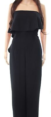 53f3328d11ee Ted Baker NEW Black Deep Women s Size 4 10 Ruffled Popover Jumpsuit  329   785