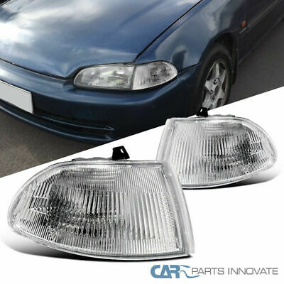 Fit 92-95 Honda Civic 4Dr EG Replacement Clear Corner Turn Signal Lights Lamps