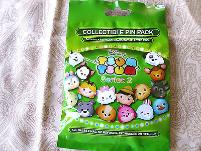 Disney* TSUM TSUM * Series 2 * New & Sealed * 5-pin Collectible Mystery Pin Pack