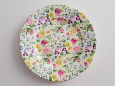 Rare Shelley Country Side Pattern Floral Chintz 7.2 Inch Plate - 3 Available