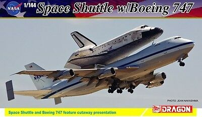 Dragon 14705 Project Cutaway NASA Space Shuttle Discovery w/747-100 model 1/144