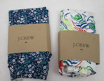 Two  Men's J Crew  Boxers Large Floral & Beach  NWT