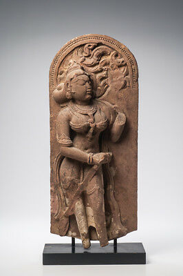 Ancient, Authentic, large Indian Sandstone Stele Madhya Pradesh 12th Century
