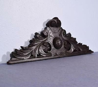 """28"""" French Antique Carved Pediment/Crest in Solid Oak"""