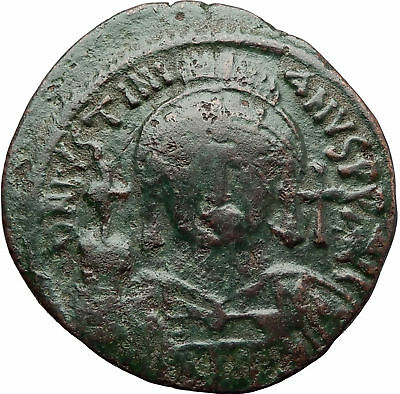 JUSTINIAN I the Great 527AD LARGE Follis Authentic Ancient Byzantine Coin i70518