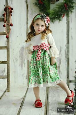 NWT Girl Mustard Pie Mystic Evergreen Holiday Collection Olivia Dress sz 7