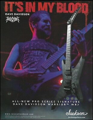 Revocation Dave Davidson Jackson Pro Series Signature Warrior WR7 guitar ad #2B