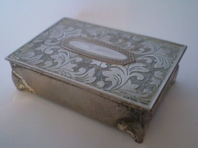 Highly Collectable Silver Plated Hinged Trinket Box