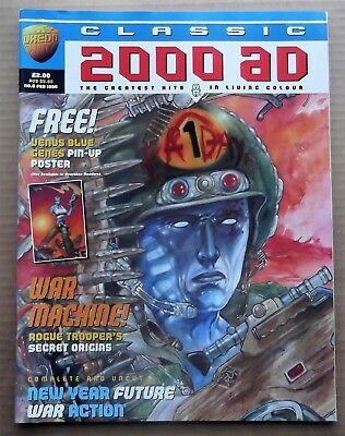 Classic 2000 Ad Magazines Issue 6 Free Poster Still Attached Feb 1996 Mint