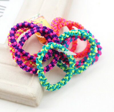 50Pcs Colorful Kids Baby Girls Elastic Hair Band Ponytail Holder Head Rope Ties