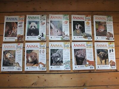95 x Marshall Cavendish Animal World Magazines Nature Set Lot Bundle WWF VGC