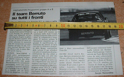"""TEAM BAGWELL """" ALFASPRINT and PORSHE 911 - Crop from old the magazine 1984"""