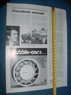 """MARK DONOHUE """" CASO Donohue - GOODYEAR - Page from old magazine"""