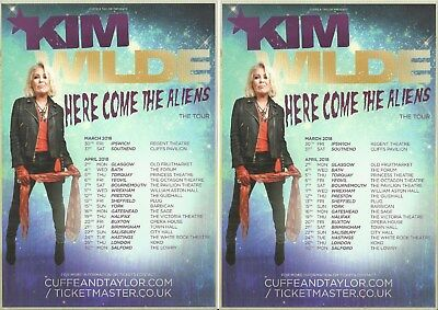 Kim Wilde - Here come the aliens -  2018 Tour FLYERS x 2