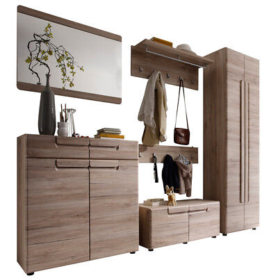 garderobenschrank spiegel eiche antik flurschrank schuhschrank mehrzweckschrank eur 368 10. Black Bedroom Furniture Sets. Home Design Ideas