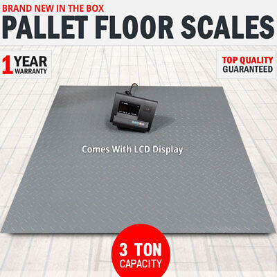 NEW 3 Ton Pallet Scales Industrial Warehouse Floor Freight Scales LCD Display