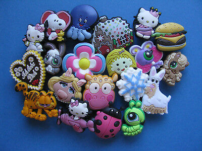 20 Schuhstecker, Mix für Girls, shoe charms, clogs-pin, charms wie Jibbitz*