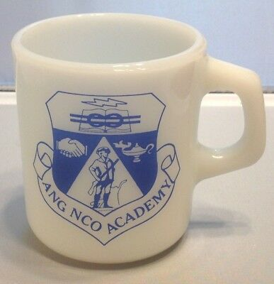 Ang Nco Academy Galaxy Milk Glass Vintage Coffee Mug Air National Guard Ec