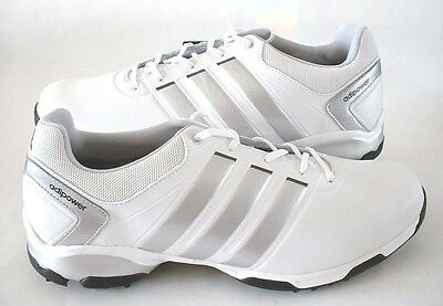 online store 4820d b8f52 Mens Adidas Golf Shoes Adipower Tr Q46885 White With Silver Size 11 12 New