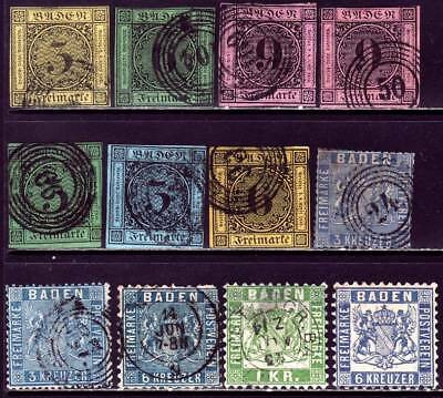 BADEN GERMAN STATES valuable stamp collection w/ better classics! CV $489.50