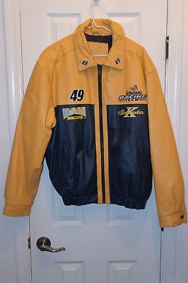 Schwan's Leather Racing Jacket Size Large