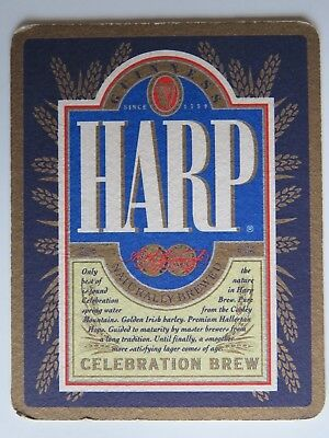 Beer Pub Coaster: HARP Celebration Brew <> Brewed By Guinness-Brewery Of Ireland