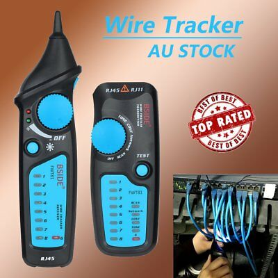 Telephone Phone RJ45 Wire Tracker Ethernet LAN Network Cable Tester Probe AU
