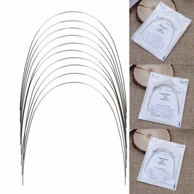 10 PCS Orthodontic Dental Super Elastic NITI ROUND Arch Wire Natural Form NEW