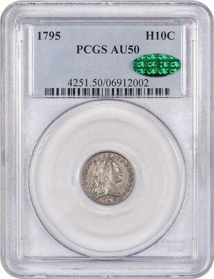 1795 H10c PCGS/CAC AU50 - Popular Early Type Coin - Early Half Dimes
