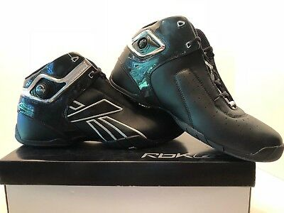 03d4deea6f61 Men s New Reebok PUMP Unanimous Mid Profile Black and Silver Basketball  Shoes
