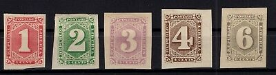 P76486/ Liberia / Y&t # 18 / 22 Neufs * / Mint Mh Imperforated