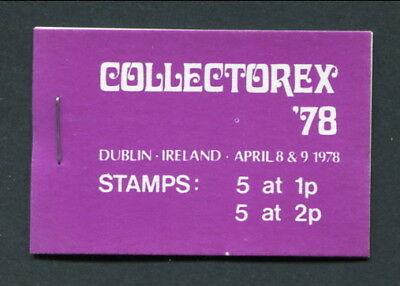 Collectorex '78 Dublin April 8 & 9 1978 -- Complete Booklet Unmounted Mint