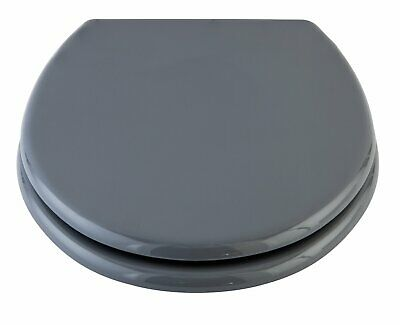 Argos Home Moulded Wood Toilet Seat - Flint Grey.