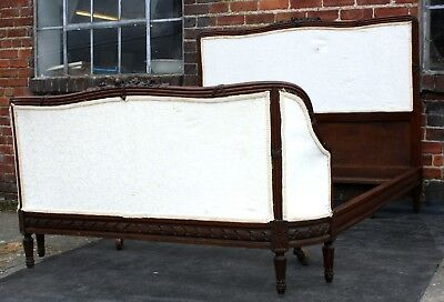 Good vintage large king size French bergere bed sumptuous curves 1910