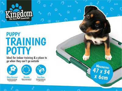 47cm Puppy Training No Mess Trainer Potty Dog Tray Indoor House Toilet Pet Mat