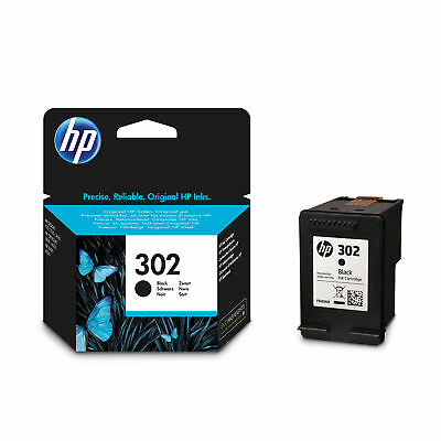 HP 302 Black Genuine Original Ink Cartridge F6U66AE For Officejet 4650 Printer