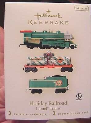 Hallmark 2008 Miniature Holiday Railroad Lionel Trains NIB