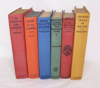 Lot of 6 Vintage 1930 Novels ~ One woman's collection ~ FREE USA SHIPPING