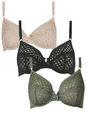 Underwired Bra with trellis lace Almond m//f for Marks and Spencer