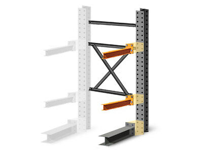 """Cantilever Rack Add-On Kit - Single Sided - 12'H x 48""""D x 60""""W with 5""""H arms"""