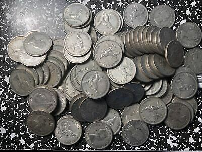 1954 Australia Florin Silver! Circulated (1 Coin Only!) Royal Visit Issue