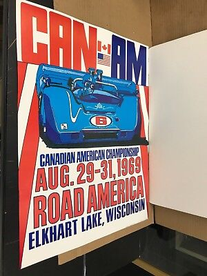 1969 Can-Am Challenge Cup Elkhart Lake, Wisconsin Poster 24.5 X 18.5 Inches