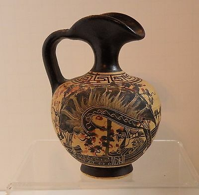 dsa 209 ANCIENT GREEK ATTIC POTTERY REPRODUCTION DIONYSUS ON WINE DARK SEA