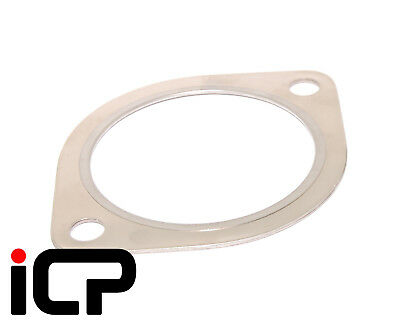 "ICP 3"" MLS Steel 2 Bolt Exhaust Gasket Fits: Subaru Impreza Turbo WRX STI RA"
