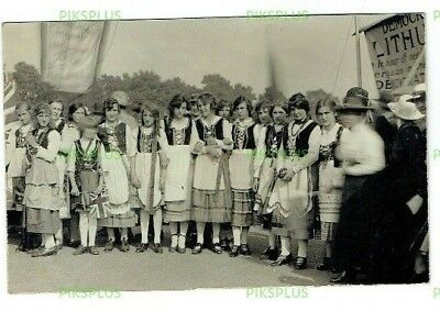 Postcard Democracy For Lithuania Demonstration London Holloway Real Photo C.1920