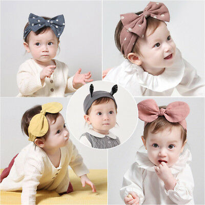 Headband Baby Kids Girls Toddler Bowknot Hair Band Wrap Accessories Headwear Set