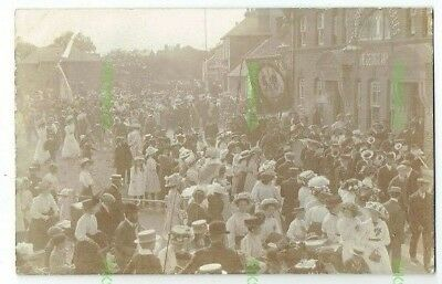 Unidentified Pub Postcard The George Inn & Foresters Parade Real Photo C.1910