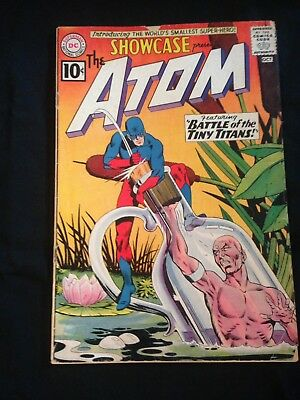 Showcase, #34, Oct. 1961, 1st Silver Age Appearance Of The Atom