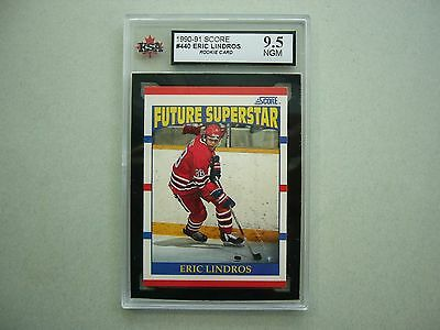 1990/91 Score Nhl Hockey Card #440 Eric Lindros Rookie Ksa 9.5 Near Gem Mint